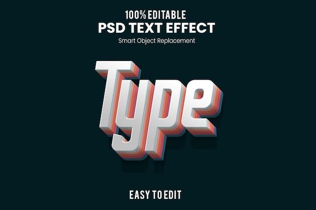 Текстовый эффект type3d