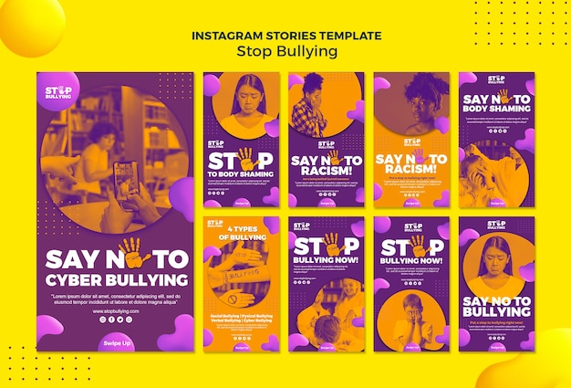 Types of bullying instagram stories template
