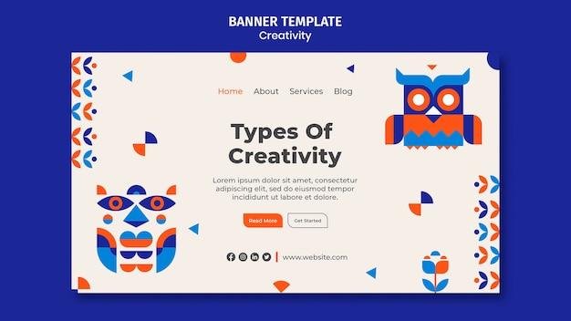Tipi di modello di banner di creatività