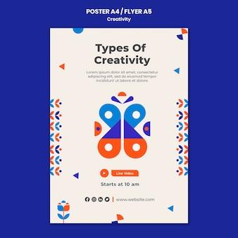 Tipi di modello di poster di creatività