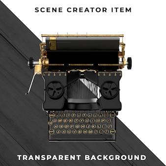 Пишущая машинка на прозрачном фоне