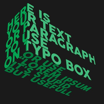 타이포그래피 사각형 모형