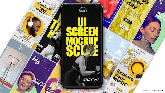 Ui screen of phone mockup