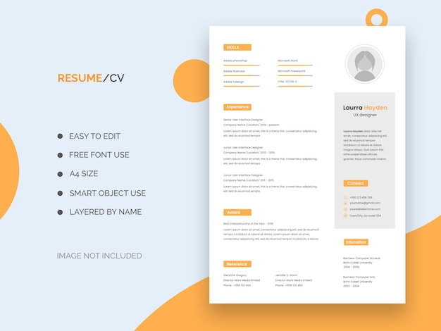Ui/ux designer resume template