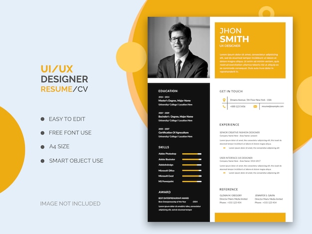 Ui_ux resume or cv template