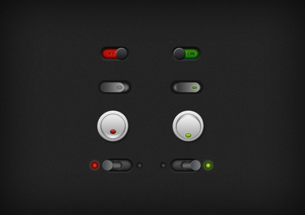 Кнопки темной нет переключателя переключатели тумблеры ui да