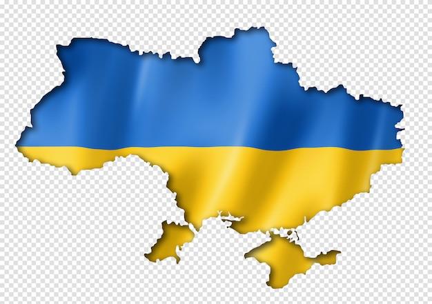 Карта украинского флага