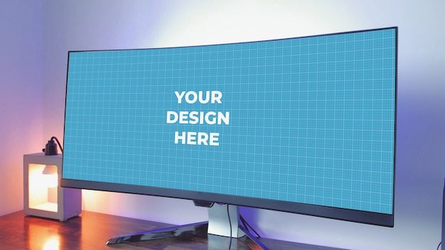 Ultrawide monitor screen mockup