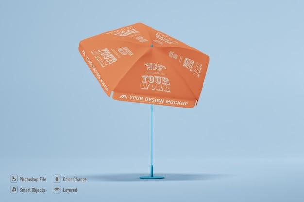 孤立した傘のモックアップ