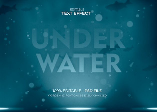Underwater lettering text effect