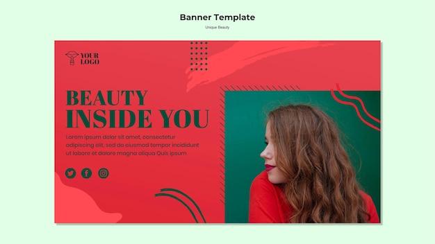 Unique beauty banner