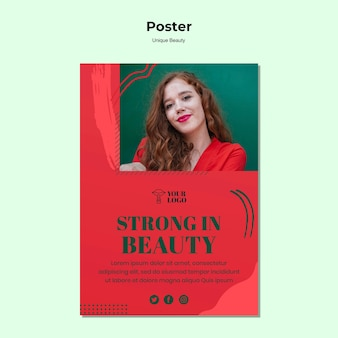 독특한 아름다움 포스터 테마