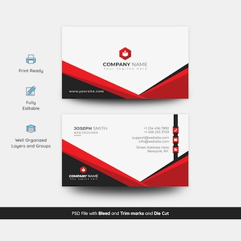 Unique and creative business card template