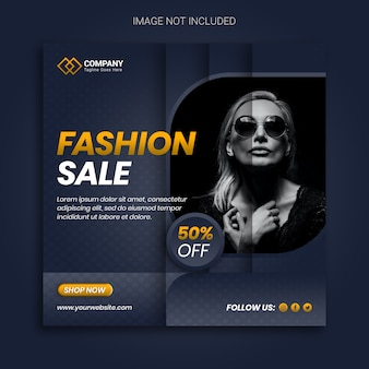 Unique fashion sale promotion banner design