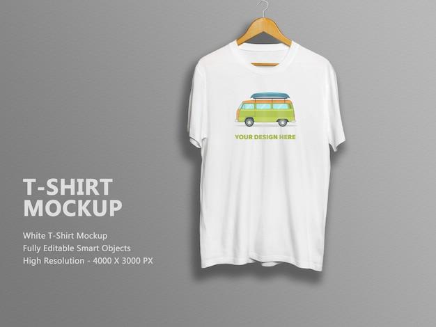 Unisex white t-shirt mockup template