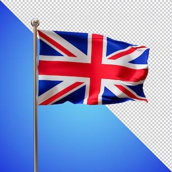 イギリスの旗3dレンダリングが分離されました