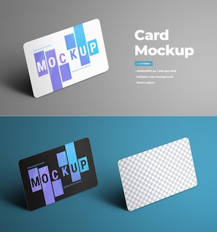 Universal mockups for presenting gift and bank cards