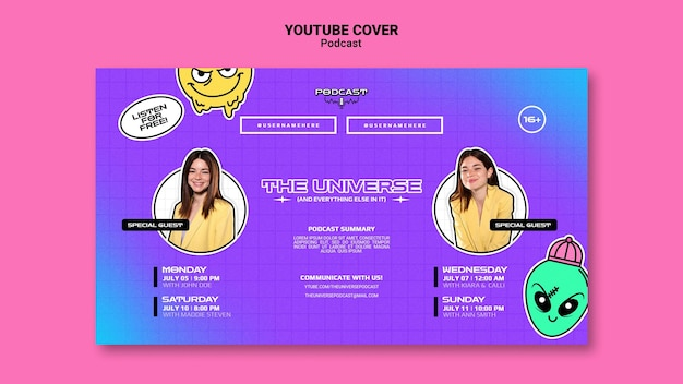 Universo podcasr youtube cover