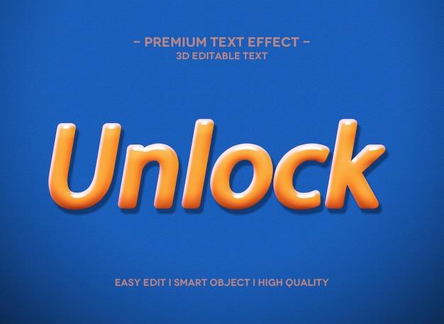 Разблокировать шаблон стиля текстового эффекта