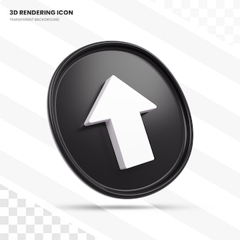 Up arrow sign 3d rendering icon