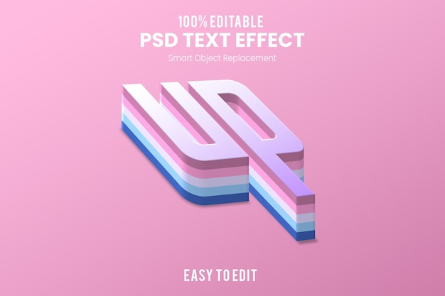 Текстовый эффект up3d