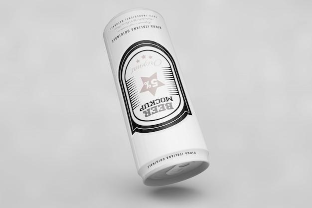 Upside down beer can mock up