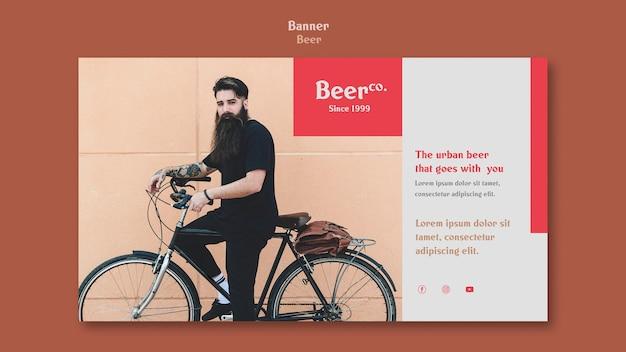Urban beard banner template