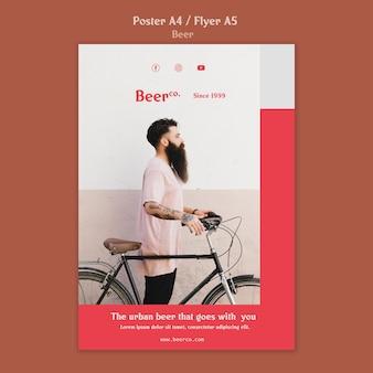 Urban beard poster template