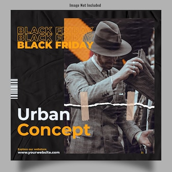 Urban concept branding for black friday post