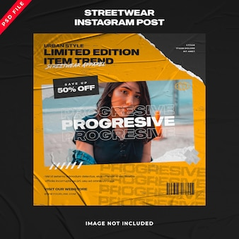 Urban fashion instagram stories social media post collection
