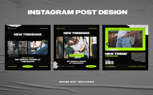 도시 패션 소셜 미디어 instagram 템플릿