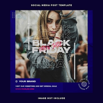 Urban fashion social media post template
