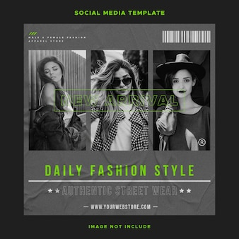 Шаблон сообщения в социальных сетях urban fashion