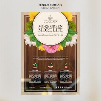 Urban garden poster design template