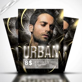 Urban golden  flyer party