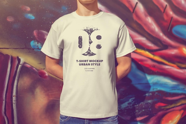 Urban mockups 남자 티셔츠