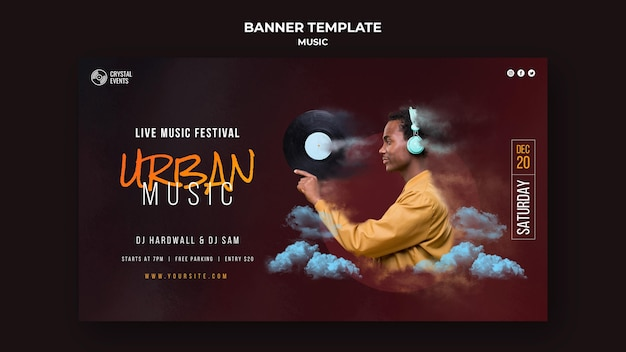 Urban music banner template