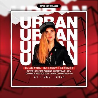 Urban night club party flyer template