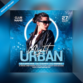 Urban night party flyer
