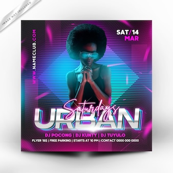 Urban party flyer  or poster template