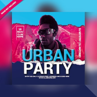 Urban party flyer