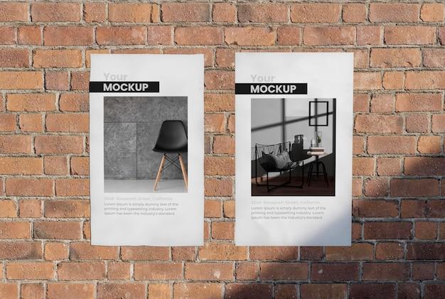 Manifesto urbano cemento grigio mock up