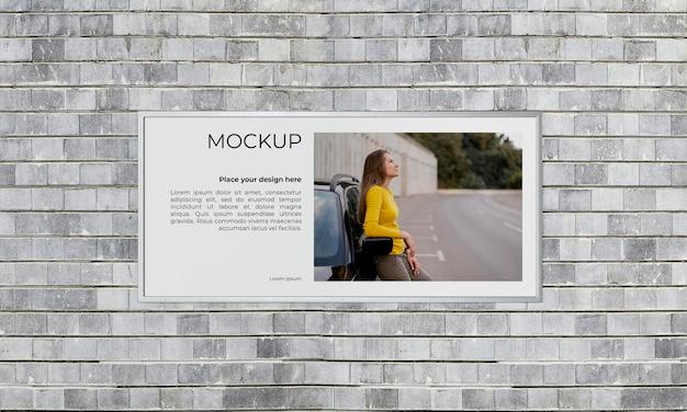 도시 포스터 회색 콘크리트 모의 무료 PSD 파일