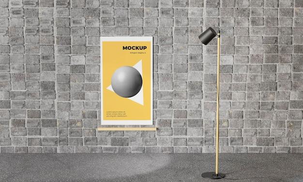 Городской плакат серый бетонный макет
