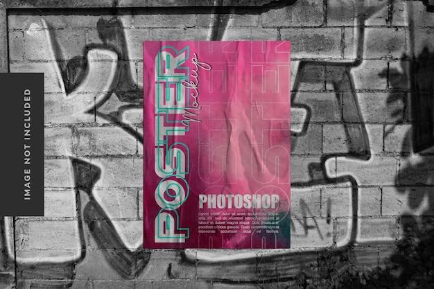 Макет городского плаката с реалистичным эффектом