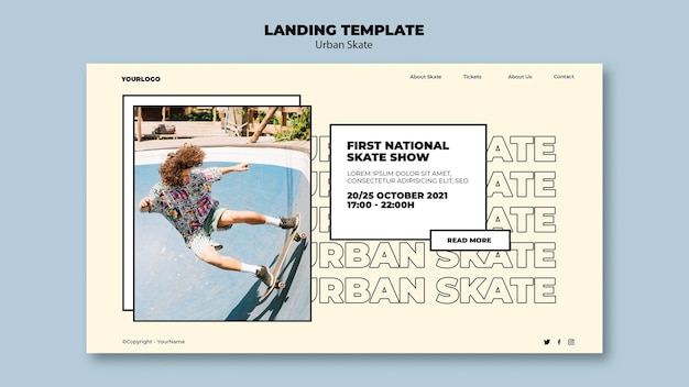 アーバンスケートコンセプトランディングページテンプレート
