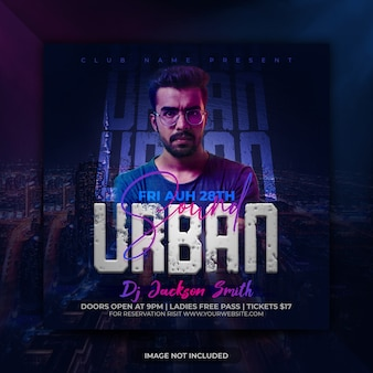 Urban sound party event flyer template