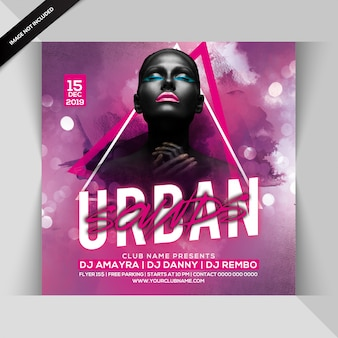 Urban sounds party flyer
