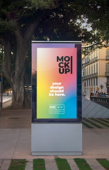 Mockup di poster di strada urbana