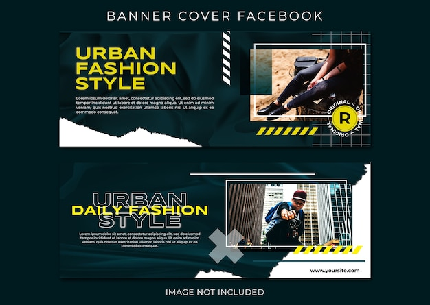 도시 스타일 패션 페이스 북 표지 템플릿